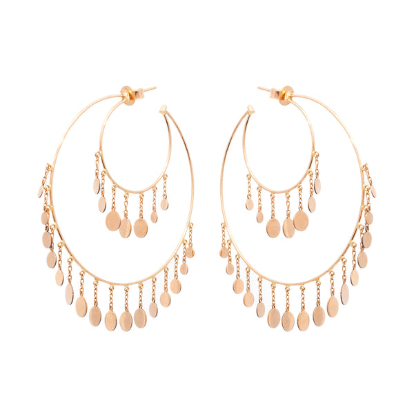 Summertime Double Hoop Earrings - LimeLiteJewellery.com