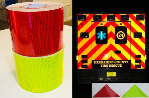 Chevron Striping Rolls (Red, Lime & Yellow)- NFPA 1901