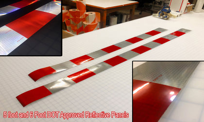 Red/White Block Reflective Panels - DOT Approved - Peel & Stick
