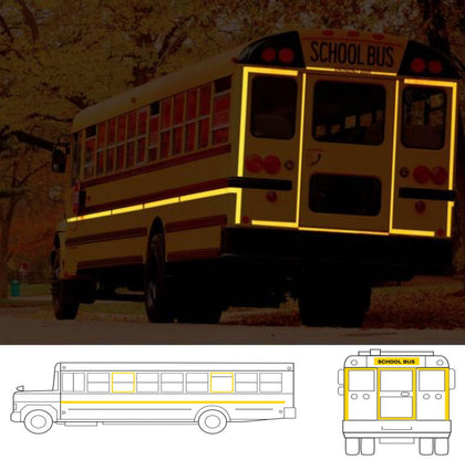 Oralite School Bus Reflective Tape
