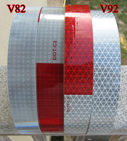 ORALITE Red/White and Solid White DOT Reflective Tape