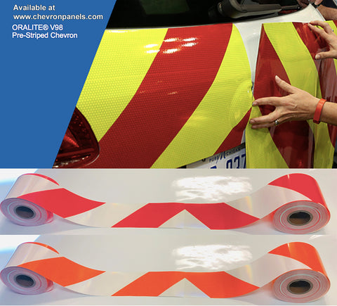 """TWO PIECE"" CHEVRON PANEL KITS - Red/Lime, White/Orange, White/Red"