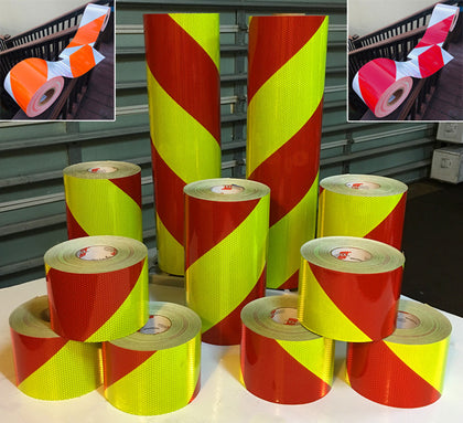 PRE-STRIPED Chevron Rolls - Red/Lime , Red/White , Orange/White