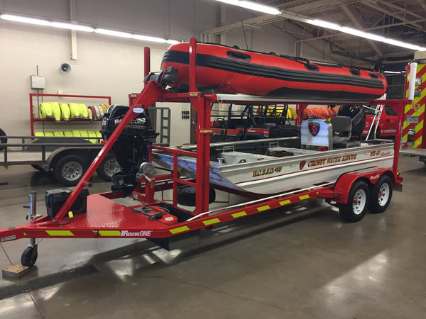 water rescue vehicle trailer reflective chevrons