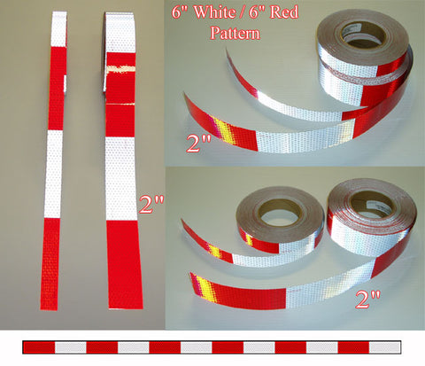 Oralite 6/6 Red White V92 Daybright DOT C2 Tape