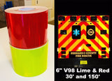 Oralite V98 NFPA 1901 Chevron Striping Tape