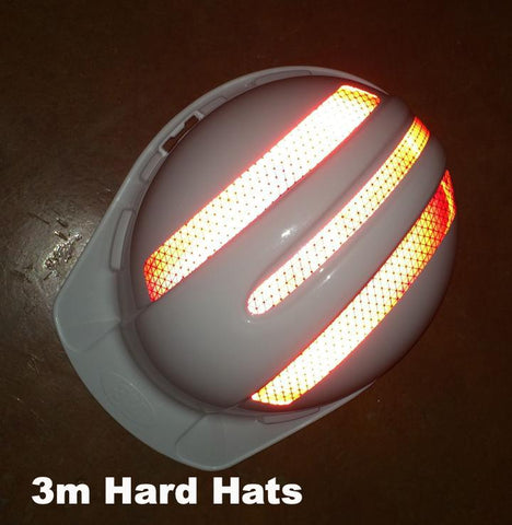 "Reflective Hard Hat ""3m"" Decals (Single 3m Hard Hat Kit) - 5 Colors"