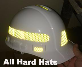 Reflective Generic Hard Hat Decals (For One Hard Hat) - 5 Colors