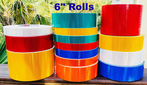 "6"" High Intensity ""Prismatic"" Type 4 Reflective Tape - 30' and 150' Rolls"