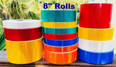 "8"" High Intensity ""Prismatic"" Type 4 Reflective Tapes - 150' Rolls"