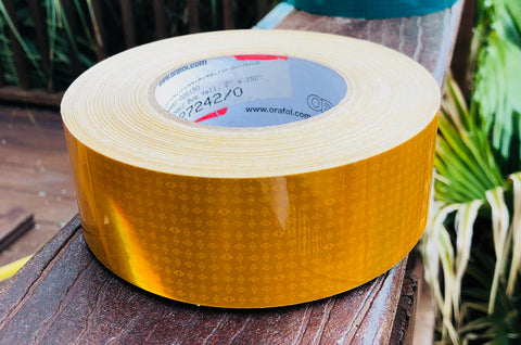 School Bus Yellow Oralite Reflective Tape V82
