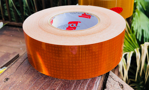 Orange Oralite Reflexite V82 Reflective Type 5 Tape