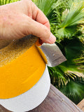 Pavement Marking Tape - White or Yellow - Aluminum Conformable Self Adhesive