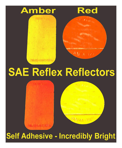 Oralite SAE / Reflex Reflectors - Amber and Red