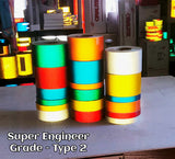 "2"" Super Engineer Grade Type 2 Reflective Tape (SEG) - 30' & 150' Rolls"