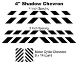 Shadow (Ghost) Chevron Decals - White or Black