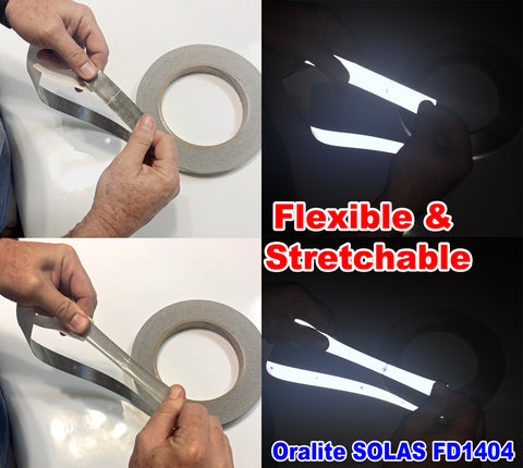 moldable stretchable flexible solas reflective tape
