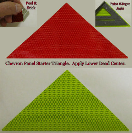 Starter Triangle for Chevron Striping NFPA 1901 (V98 Lime or Red)