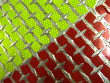 Reflective Chevron Strips for Diamond Plate - Peel & Stick - Lime & Red