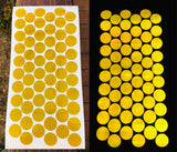 Yellow 1 inch V82 Reflective Dots Oralite