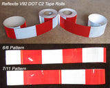 Oralite Reflexite 3 and 4 inch DOT tape V92