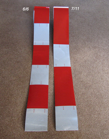 6 inch red 6 inch white Oralite 3 and 4 inch V92 DOT Tape