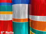 "6"" Oralite V92 Daybright Prismatic Tape Rolls - 30' & 150' Rolls"