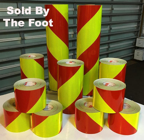 V98 pre printed chevron reflective rolls by the foot