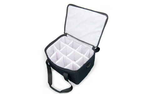 UP-BEVC12 Insulated Thermal Coffee & Beverage Carrier w/Sealed Liner & 12 Way Divider (Packed 2 Per Case -- Unit Price: $49.99) - Ultimate Pizza Bag