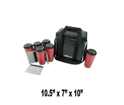 UPB/BEVC6 - 6 Cup Coffee & Beverage Delivery Bag, Black (Packed 4 Per Case -- Unit Price: $18.99)