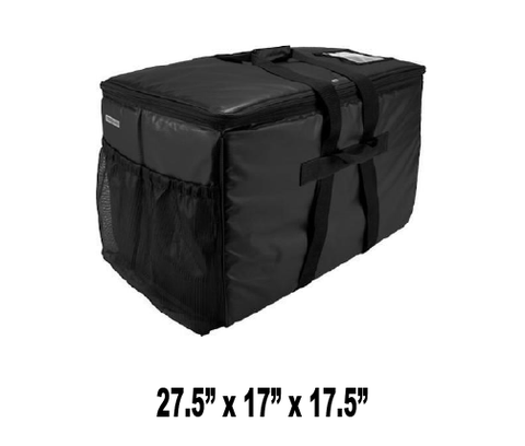 UP-CLGPCRXL Black Extra Large Catering Bag & Pan Carrier - Ultimate Pizza Bag