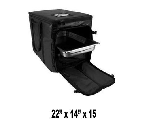 UP-CLGPCSX - Full Size Heavy Duty Multi Pan Carrier/Restaurant Delivery Bag, Top & Side Loading (Packed 2 Per Case -- Unit Price: $63.99) - Ultimate Pizza Bag
