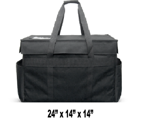 CALL TO BACK ORDER - 888-254-9453 -- LGRDX - Large Semi-Rigid Hot/Cold Restaurant Delivery Bag w/ Removable Divider (Price Delivered Packed 2 Per Case -- Unit Price: $59.99)