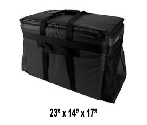 UP-LHCX Extra Large Heavy Duty Semi Rigid Hot or Cold Insulated Food Delivery Bag (Packed 2 Per Case -- Unit Price: $64.99) - Ultimate Pizza Bag