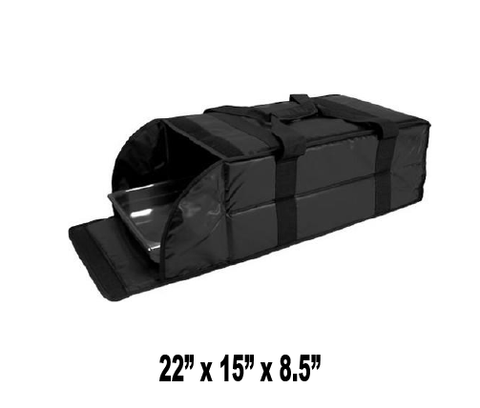 UP-LP3X - Full Size Catering Multi - Pan Carrier Bag, Black (Price Delivered Packed 2 Per Case -- Unit Price: $47.99) - Ultimate Pizza Bag