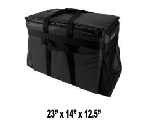 CALL TO BACK ORDER - 888-254-9453 -- LPT4XL - Large Heavy Duty Catering Pan Carrier Bag, Black (Price Delivered Packed 2 Per Case -- Unit Price: $55.99)