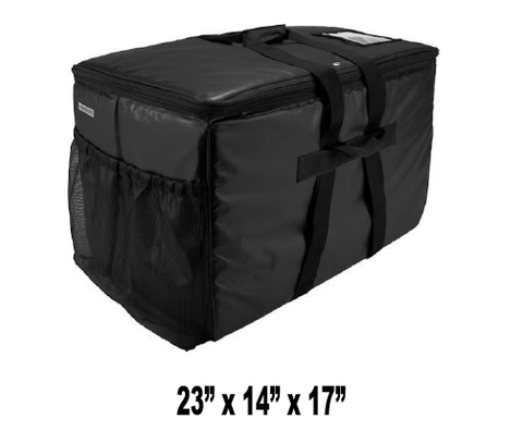 LPTXL - Large Heavy Duty Catering Pan Carrier Bag, Black (Price Delivered Packed 2 Per Case -- Unit Price: $59.99)