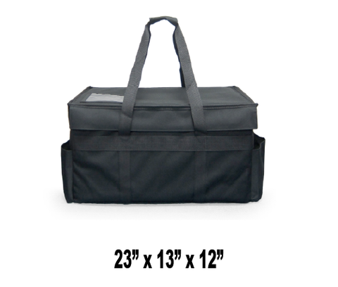 MDRDX- Large Semi-Rigid Hot/Cold Restaurant Delivery Bag w/ Removable Divider (Price Delivered Packed 2 Per Case -- Unit Price: $55.99)