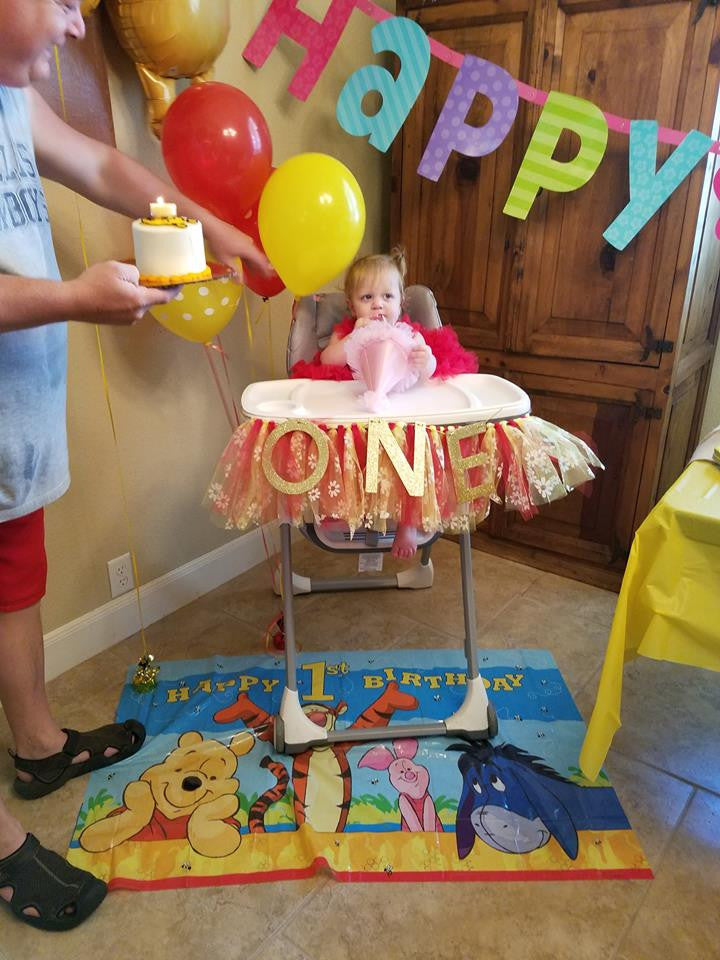 Scarlett's Winnie the Pooh Themed First Birthday Party