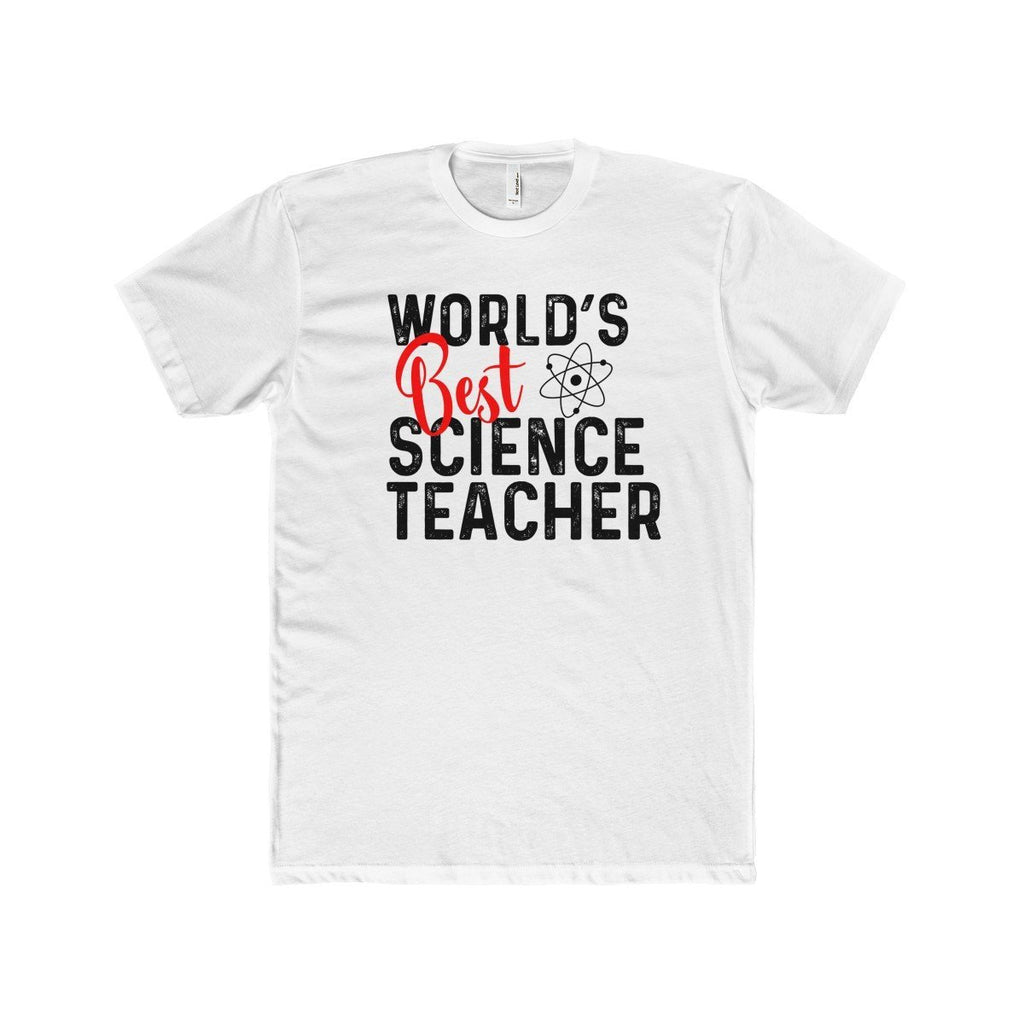 WorldS Greatest Science Teacher MenS Cotton Crew Tee