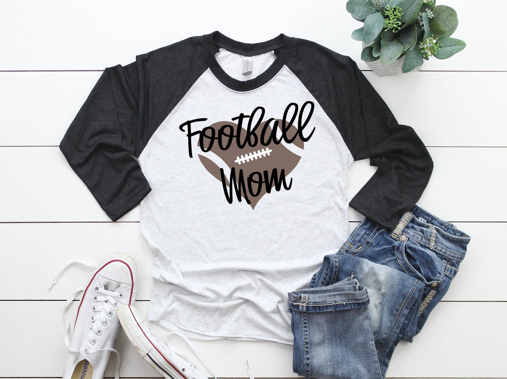 Football Mom, Football Shirt, Raglan Shirt,  Football Gigi, Football Nana, Football Dad, Football Memaw, Football Season
