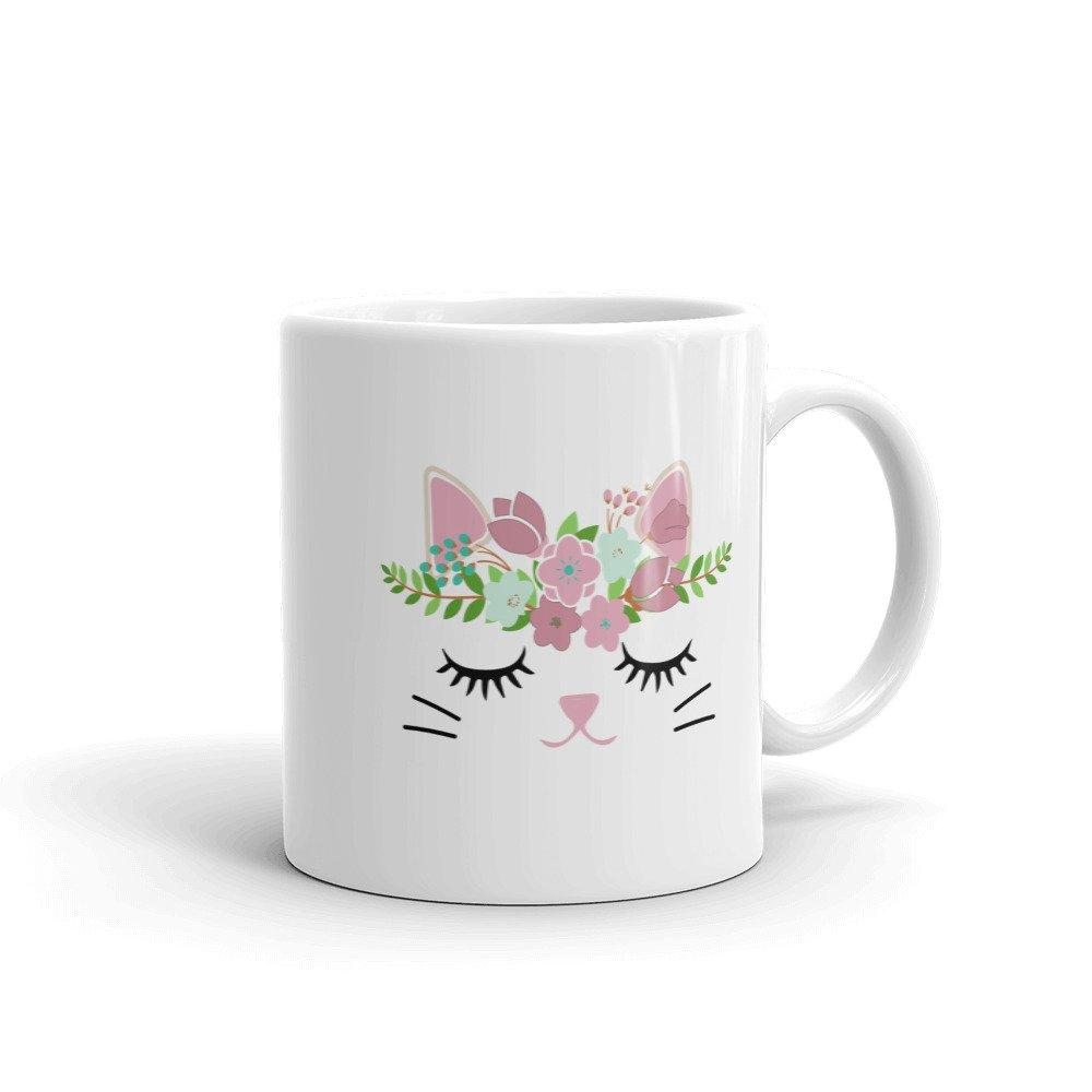 Floral Kitty Coffee Mug