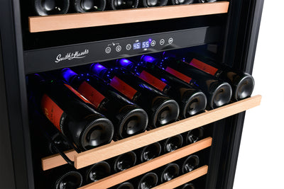 166 Bottle Dual Zone, Smoked Black Glass | Bestseller