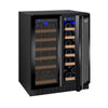 FlexCount Series Dual Zone Black Wine Refrigerator - 36 Bottles