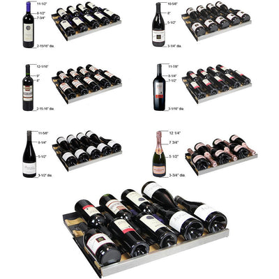 FlexCount Series Dual Zone Black Wine Refrigerator - 172 Bottles