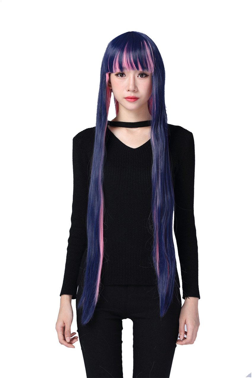 Panty/&Stocking with Garterbelt Stocking long Straight Cosplay Wig 100cm