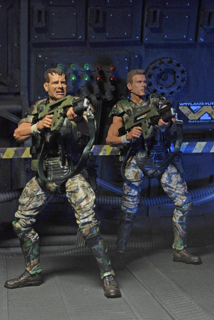 NECA REEL TOYS - ALIENS COLONIAL MARINES 30TH ANNIVERSARY - CORPORAL DWAYNE HICKS & PRIVATE WILLAIM HUDSON ACTION FIGURE 2-PACK - SPECIAL EDITION - NECA 51643
