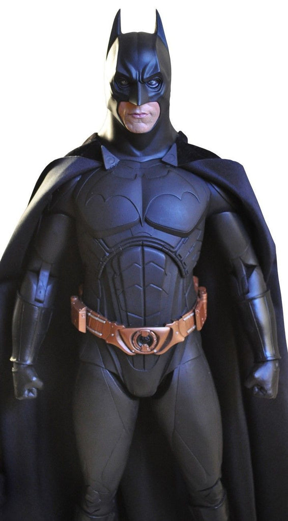 "NECA 1/4 SCALE 18"" INCH DARK KNIGHT TRILOGY MOVIE - BATMAN BEGINS CHRISTIAN BALE BATMAN ACTION FIGURE NECA reel toys"