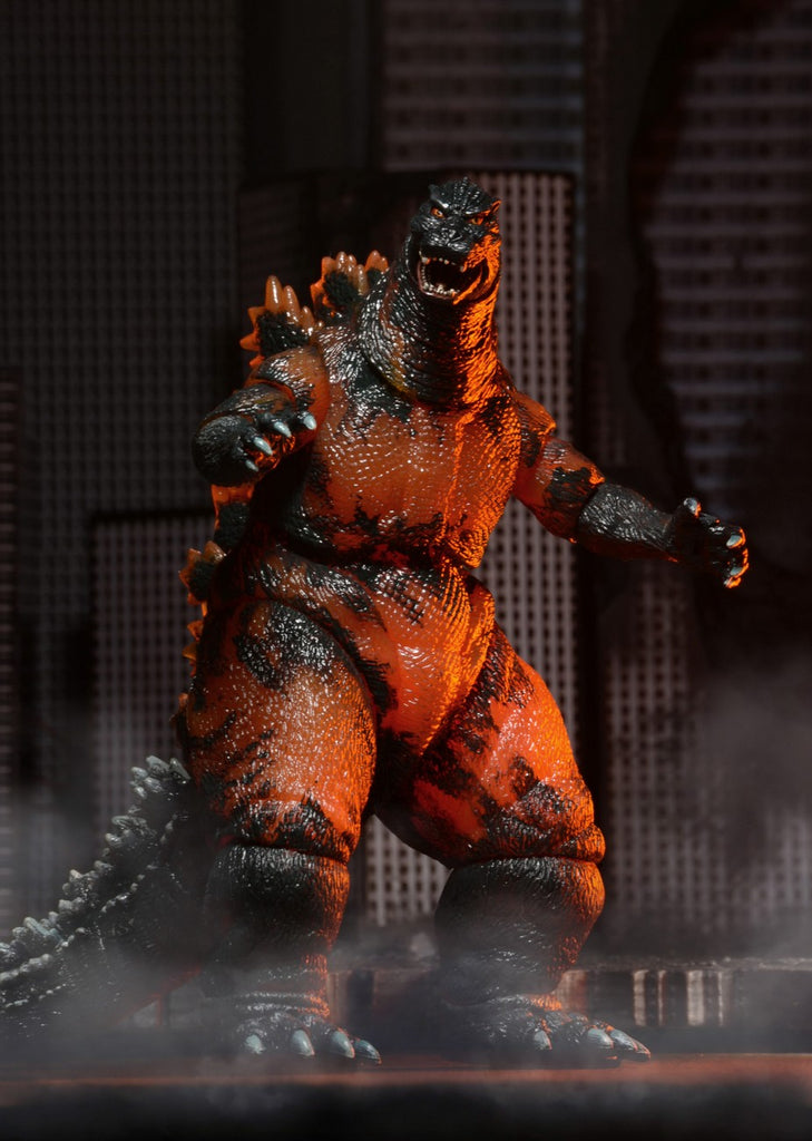 "Godzilla Classic Series '95 Burning Godzilla Action Figure 12"" Head to Tail NECA"