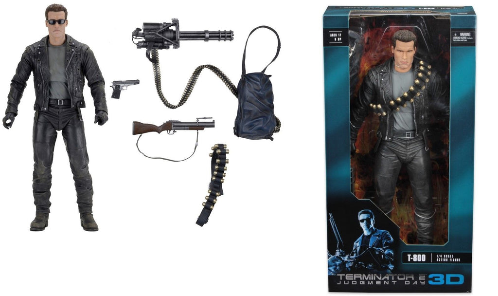 From Terminator 2: Judgment Day, the deadly T-800 arrives in our 1/4 scale action figure line!